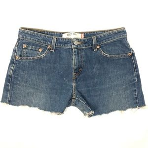 Levi's cut off jeans shorts